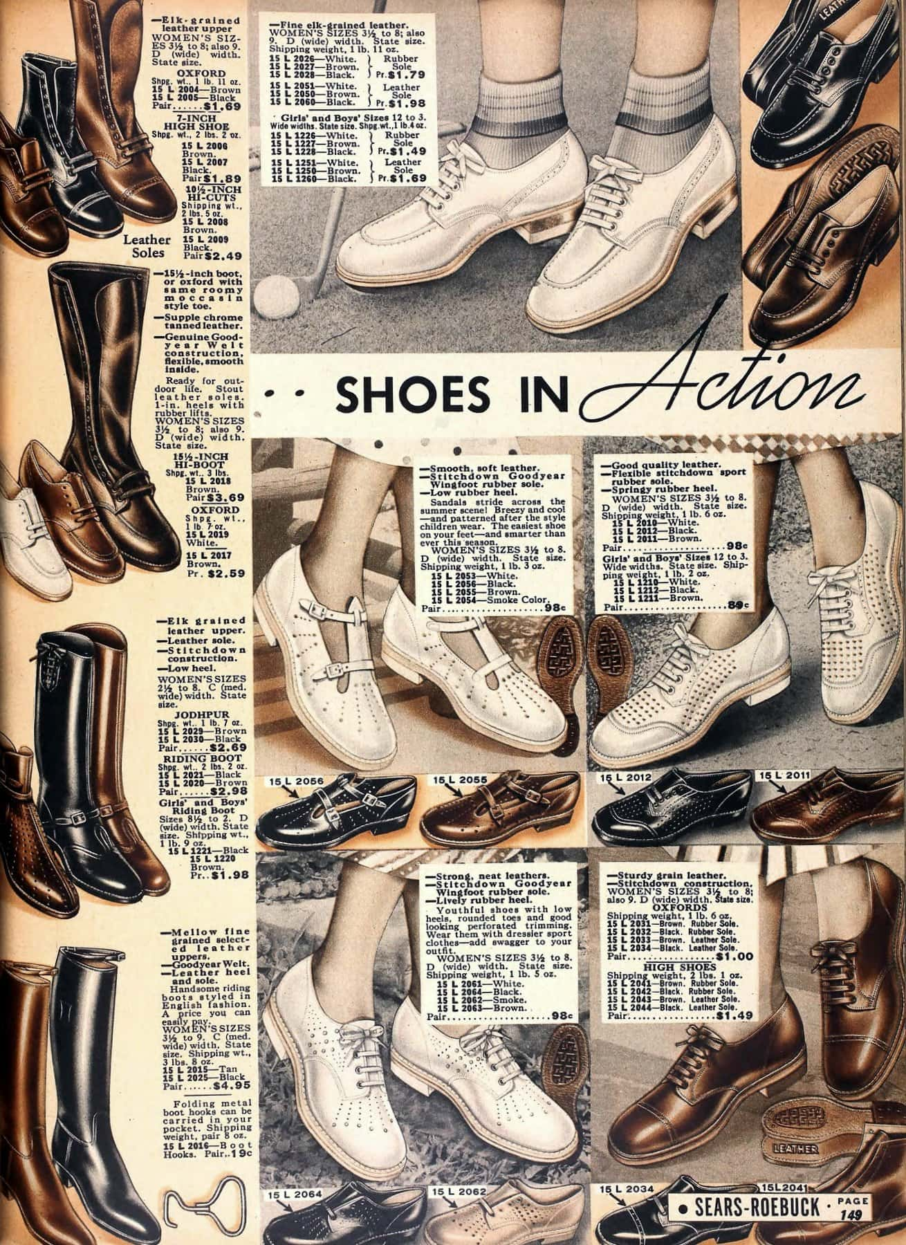 Vintage 1930s shoes for women from 1936 (4)