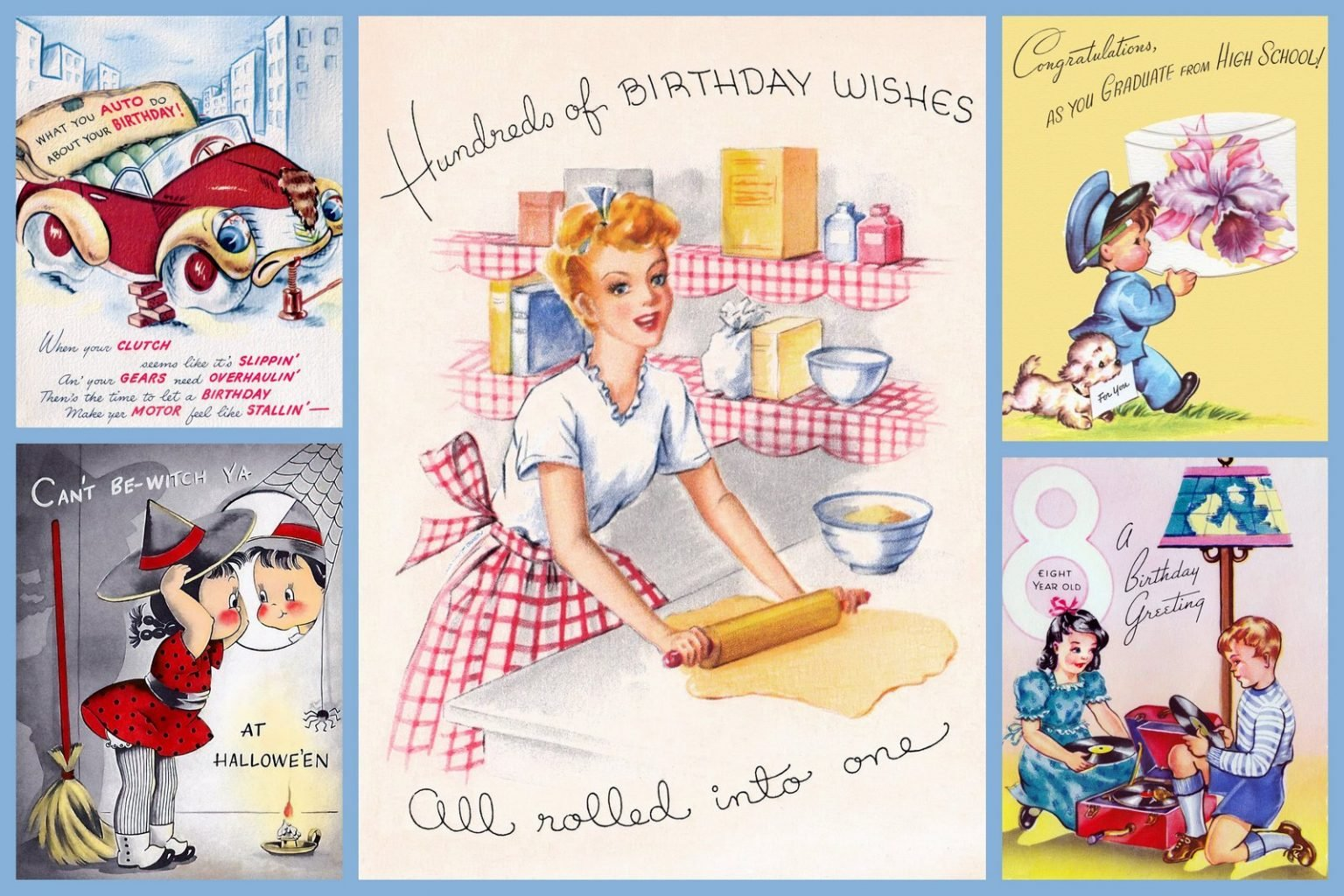 Vintage 1940s birthday cards and other greeting cards