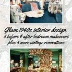 Vintage 1940s interior design for bedrooms