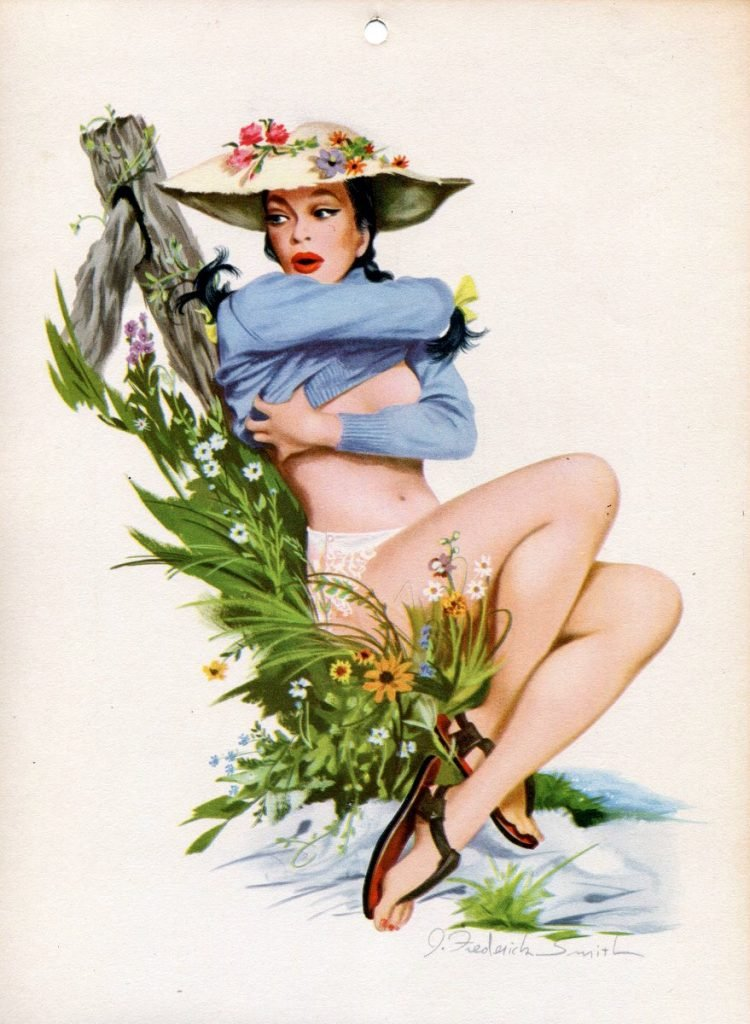 Vintage 1940s pin up models - calendar girls (1)