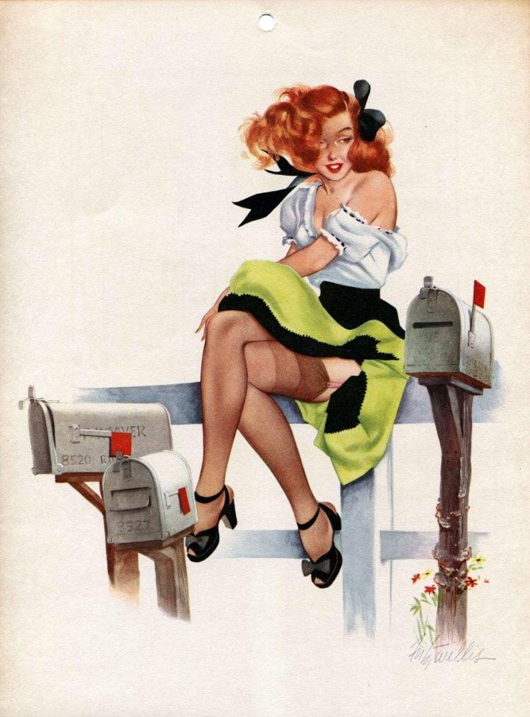 1940s vintage calendar girls