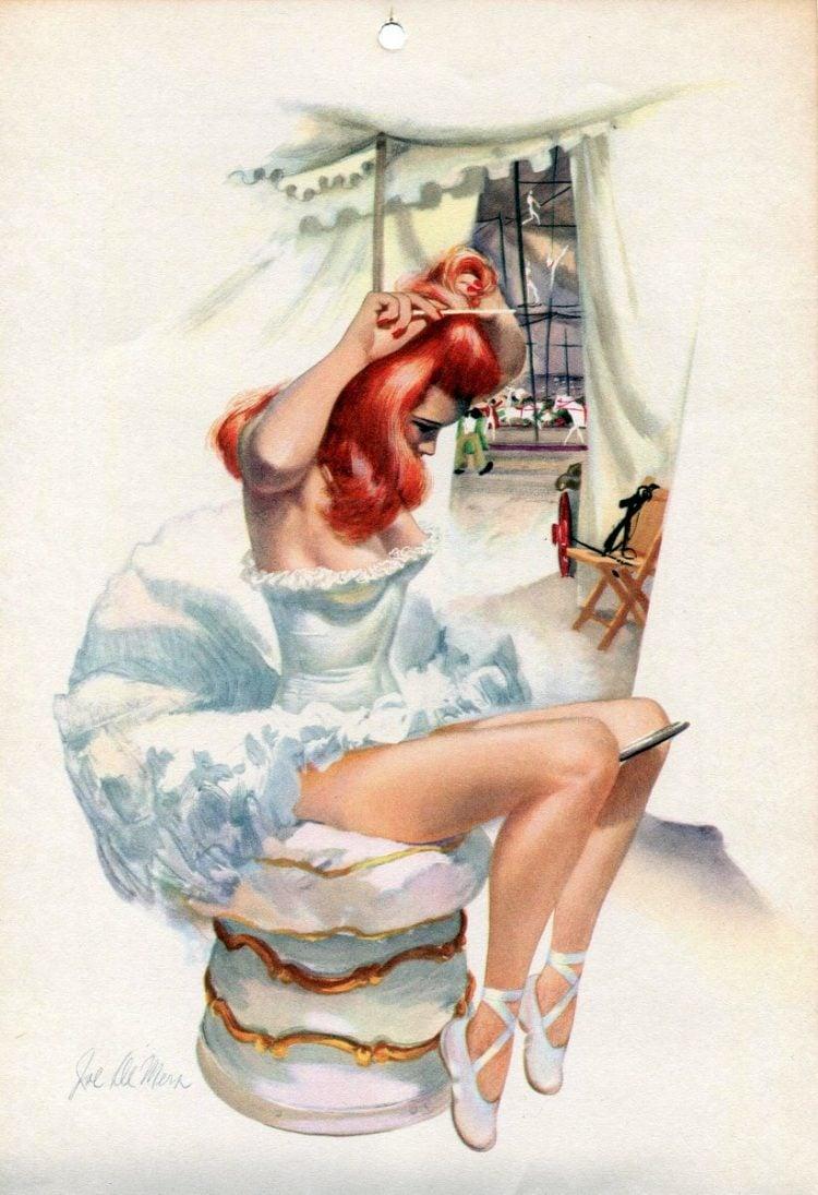 Vintage 1940s pin up models - calendar girls (11)