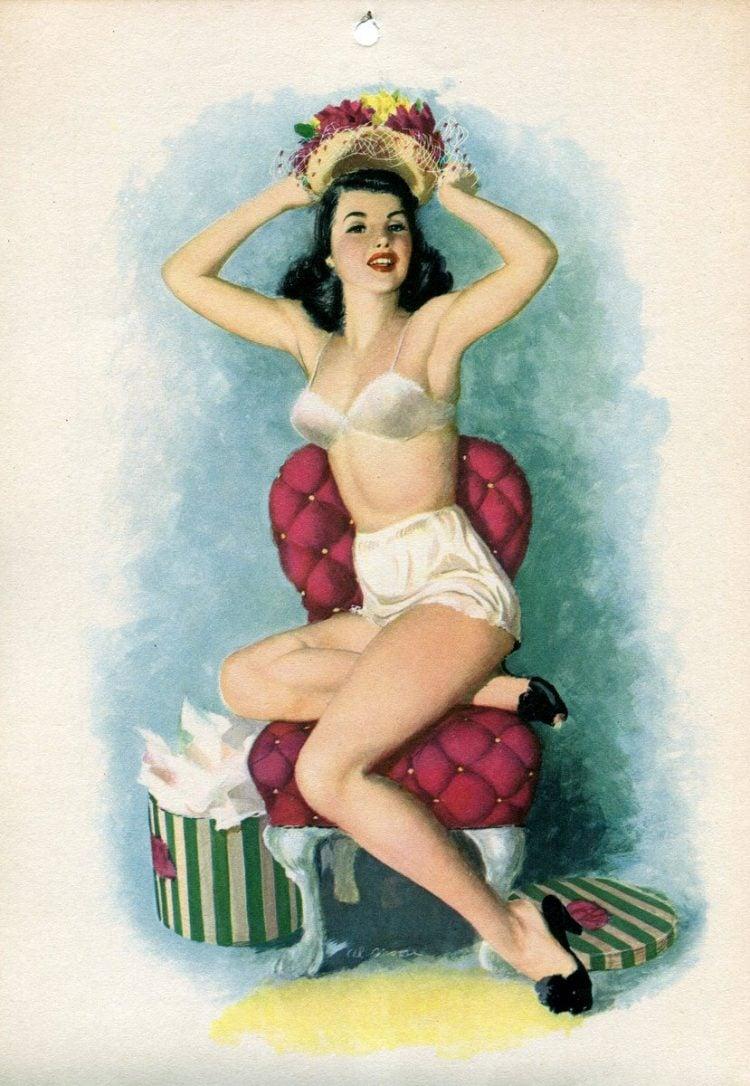 Vintage 1940s pin up models - calendar girls (12)