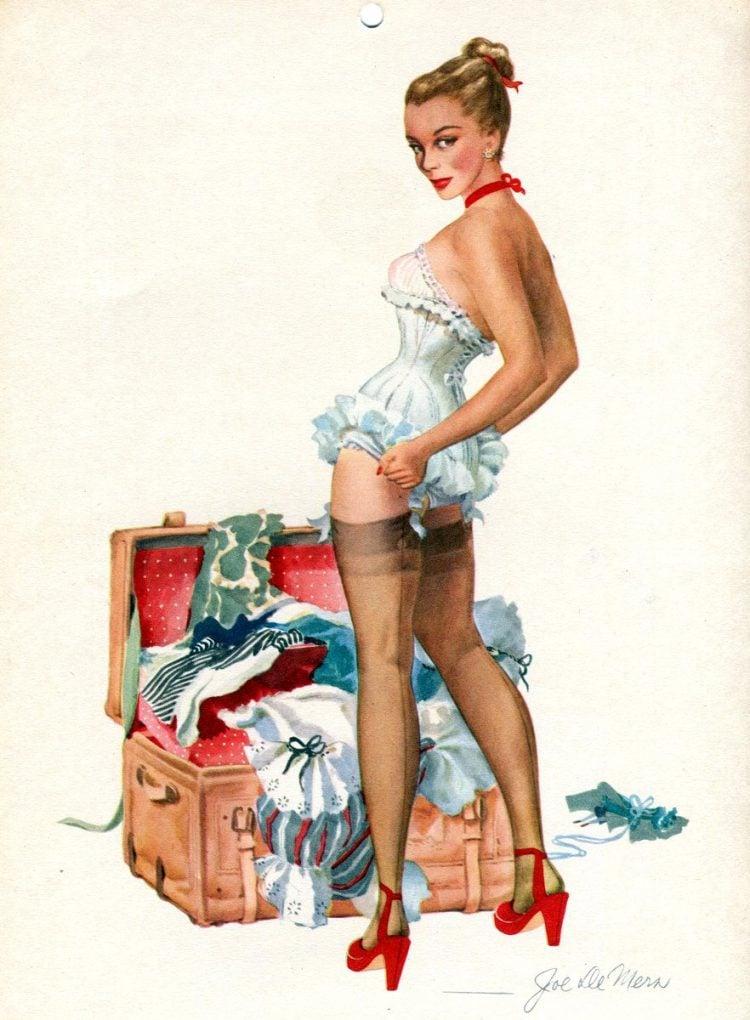 Vintage 1940s pin up models - calendar girls (4)