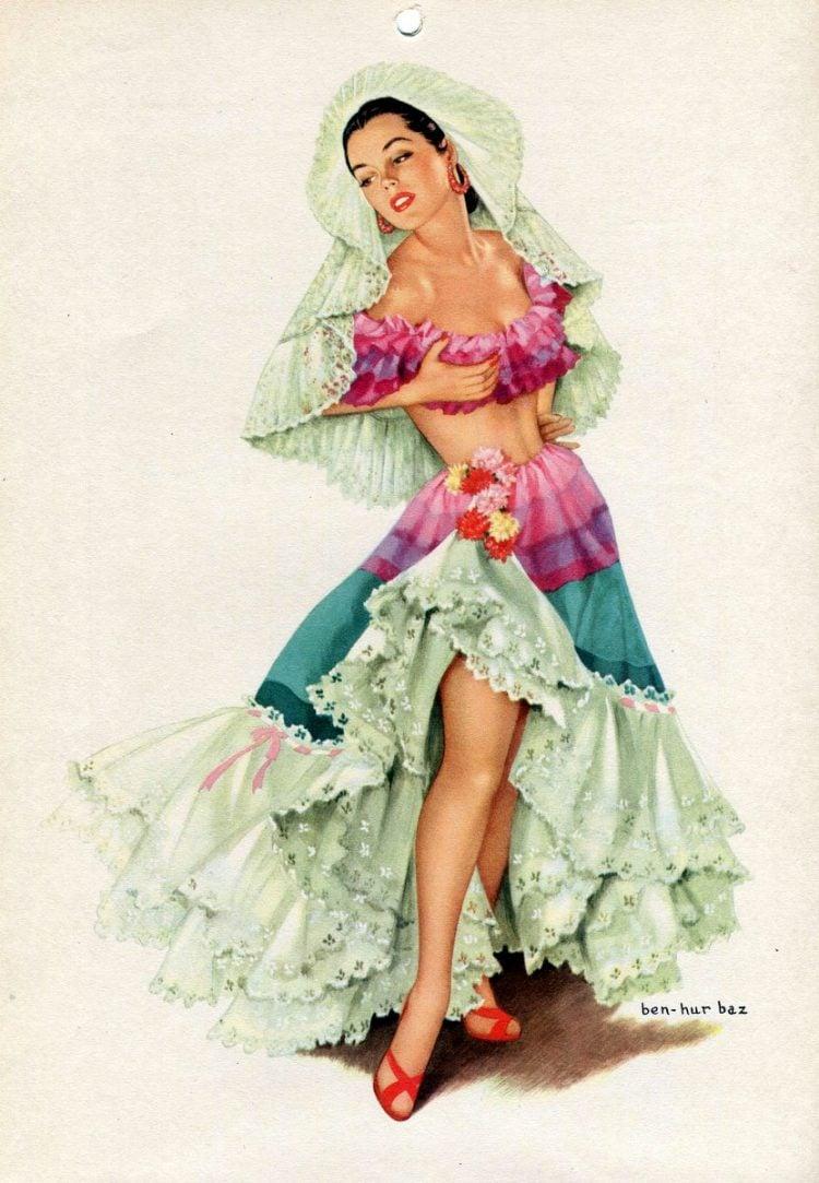 Vintage 1940s pin up models - calendar girls (5)