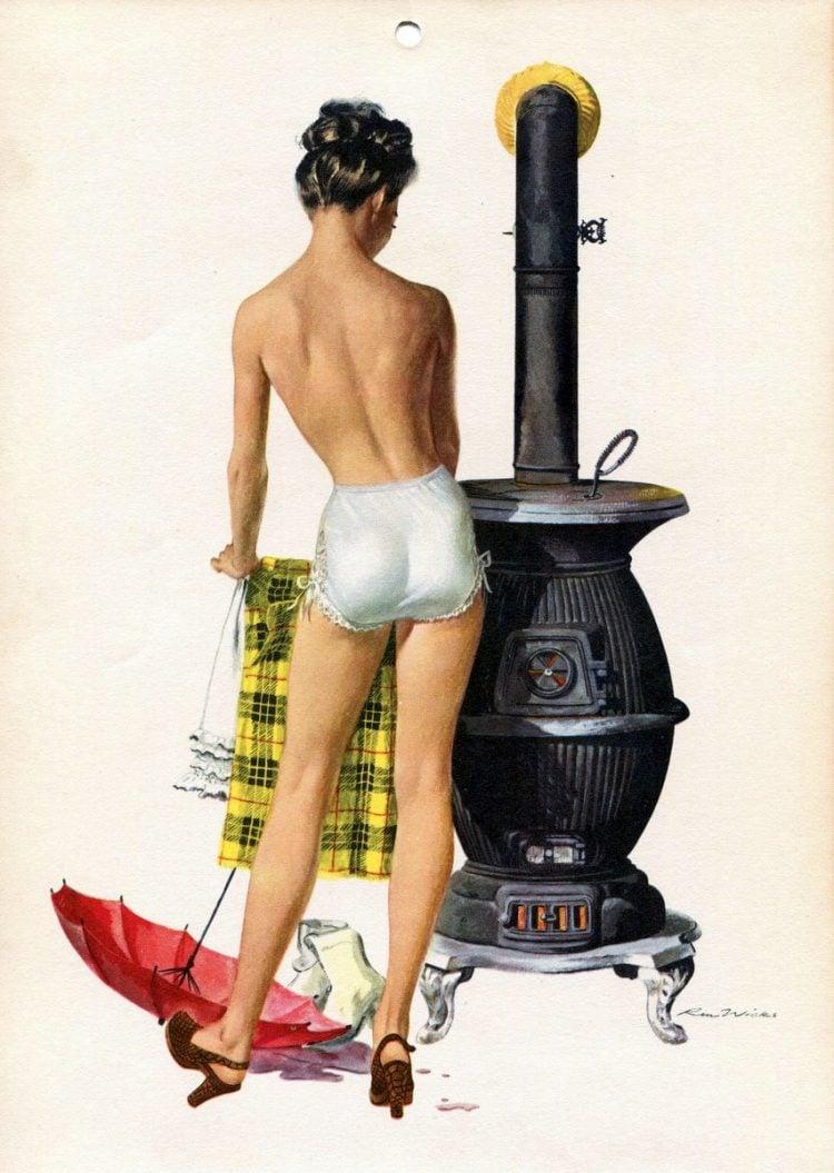 Vintage 1940s pin up models - calendar girls (7)