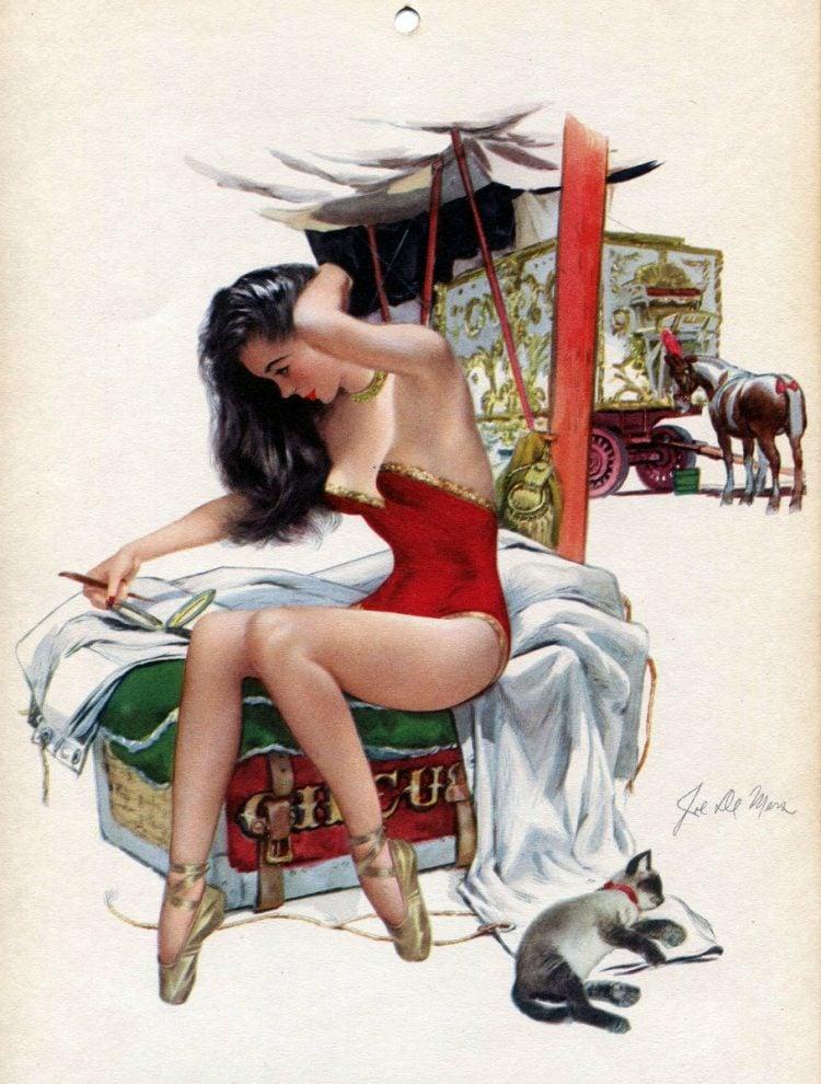 Vintage 1940s pin up models - calendar girls (8)