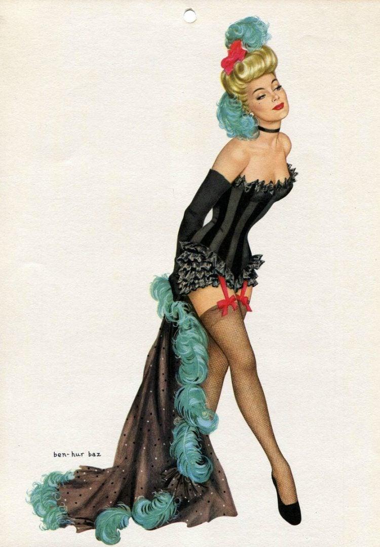 Vintage 1940s pin up models - calendar girls (9)
