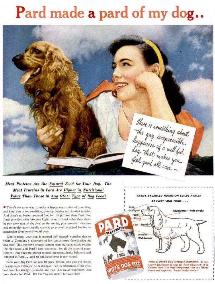 Vintage 1945 Pard dog food