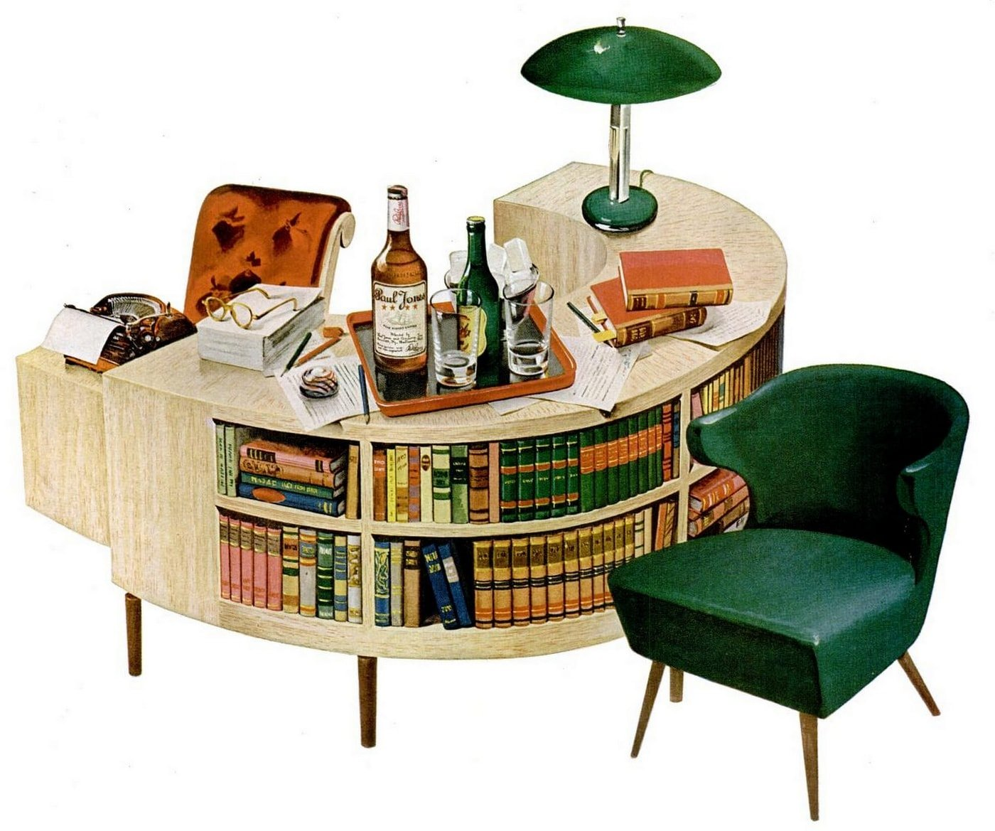 1945 books library book nook