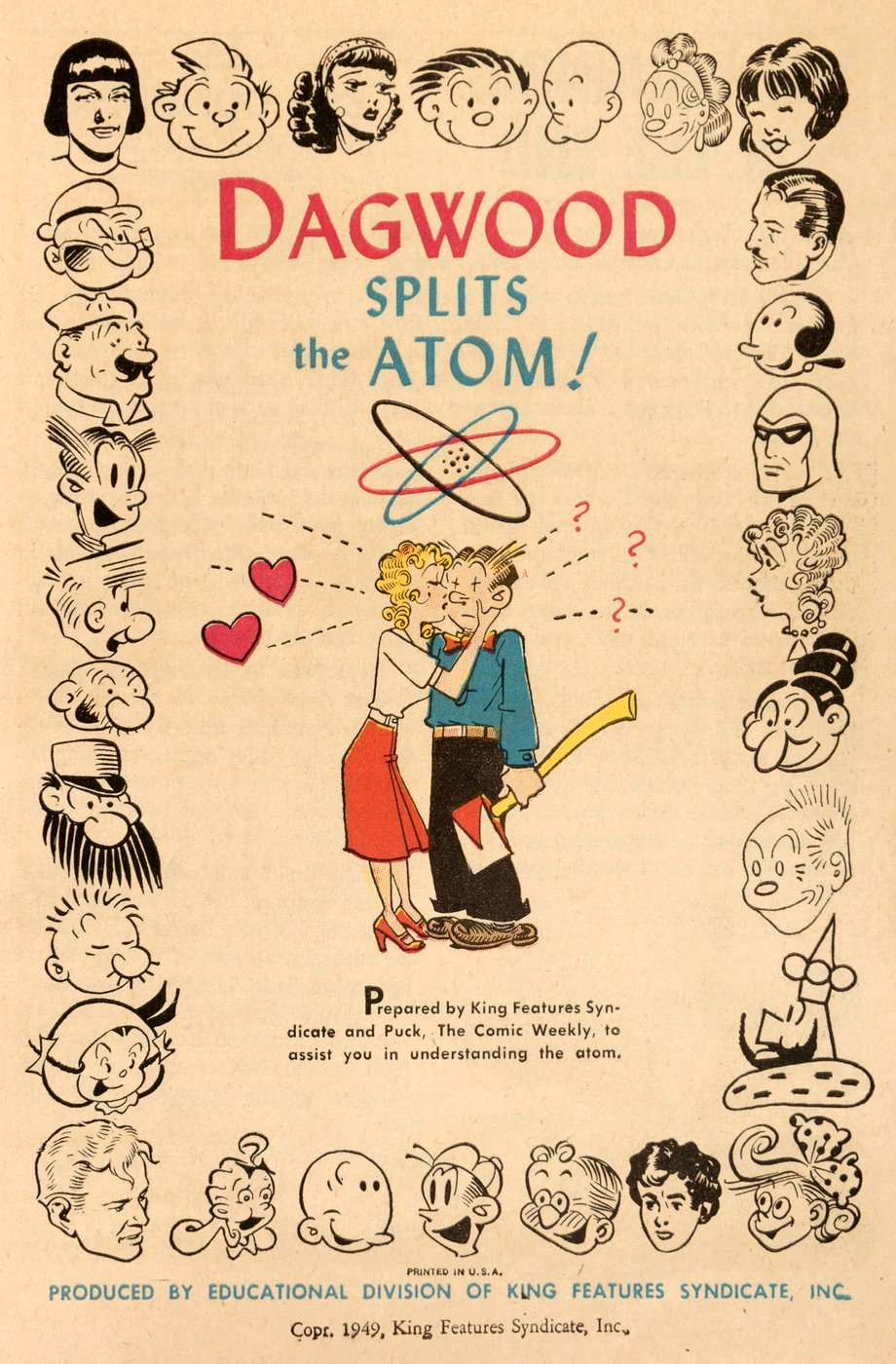 Vintage 1949 booklet - Dagwood Splits the Atom