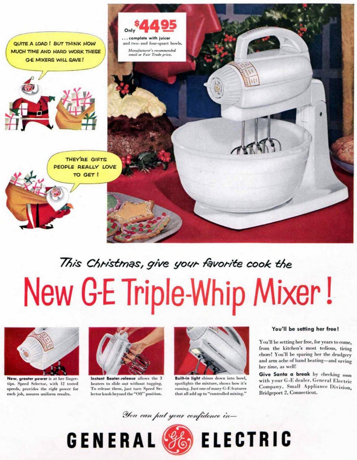 Vintage 1950s GE Triple-Whip Mixer (1953)