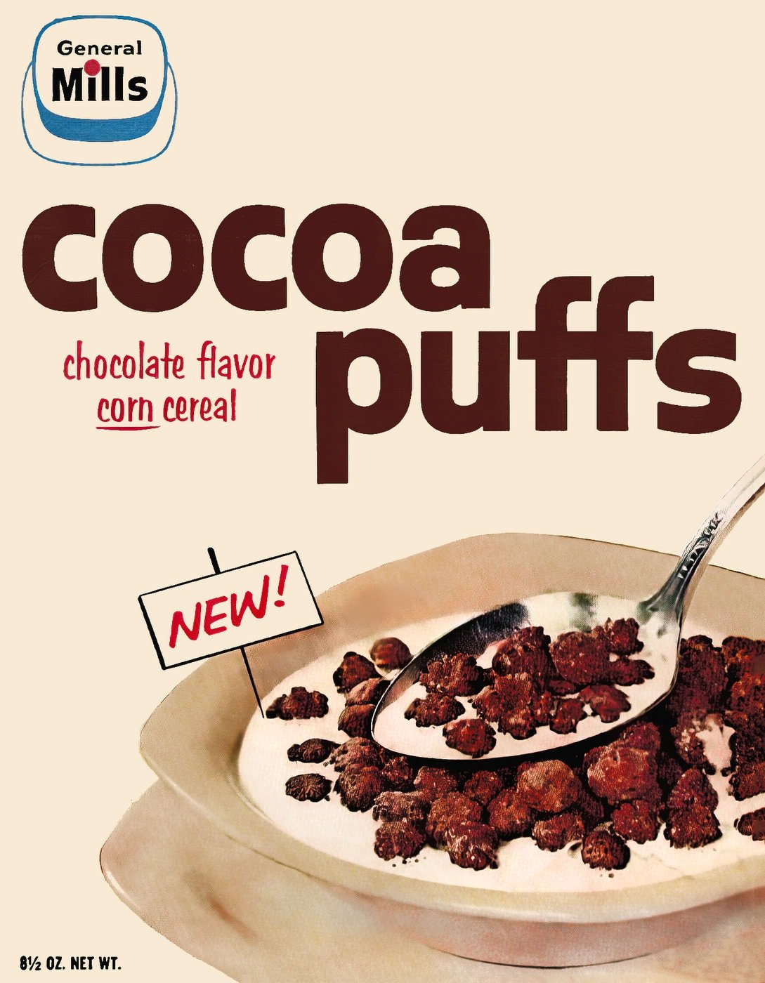 Vintage 1950s General Mills Cocoa Puffs cereal