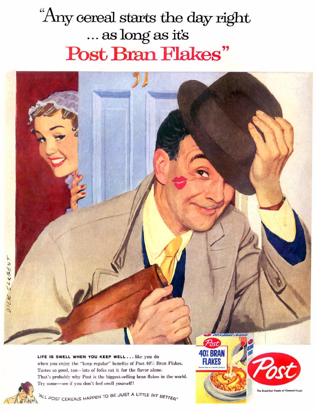 Vintage 1950s Post Bran Flakes