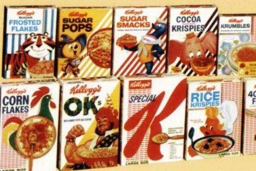 Vintage 1950s breakfast cereals