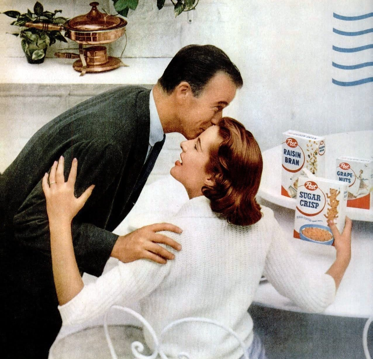 Vintage 1950s breakfast cereals from Post (1956)