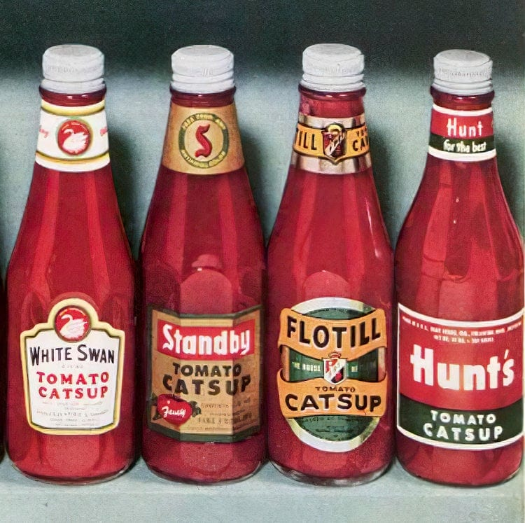 Vintage 1950s catsup brands (1)