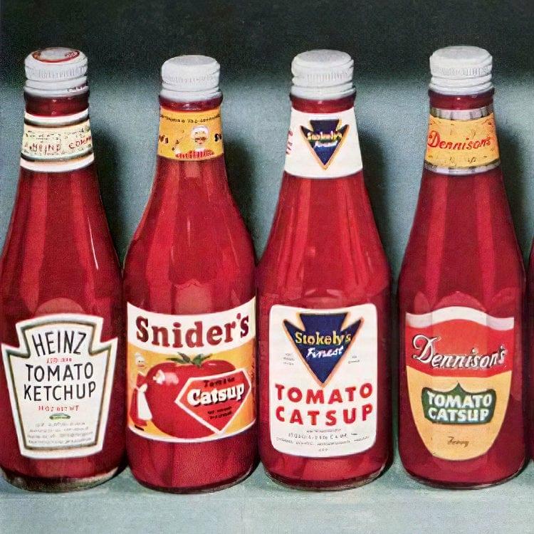 Vintage 1950s catsup brands (2)