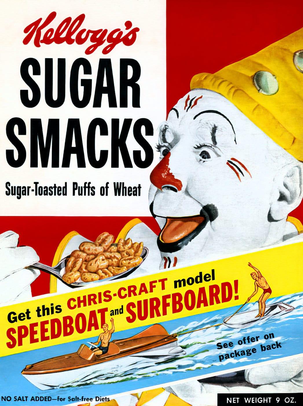 Vintage 1950s cereals - Sugar Smacks
