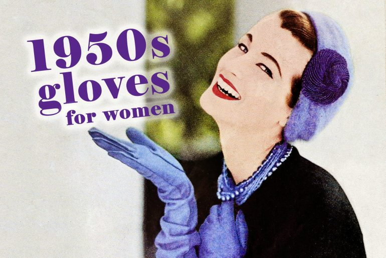 Vintage 1950s gloves for women