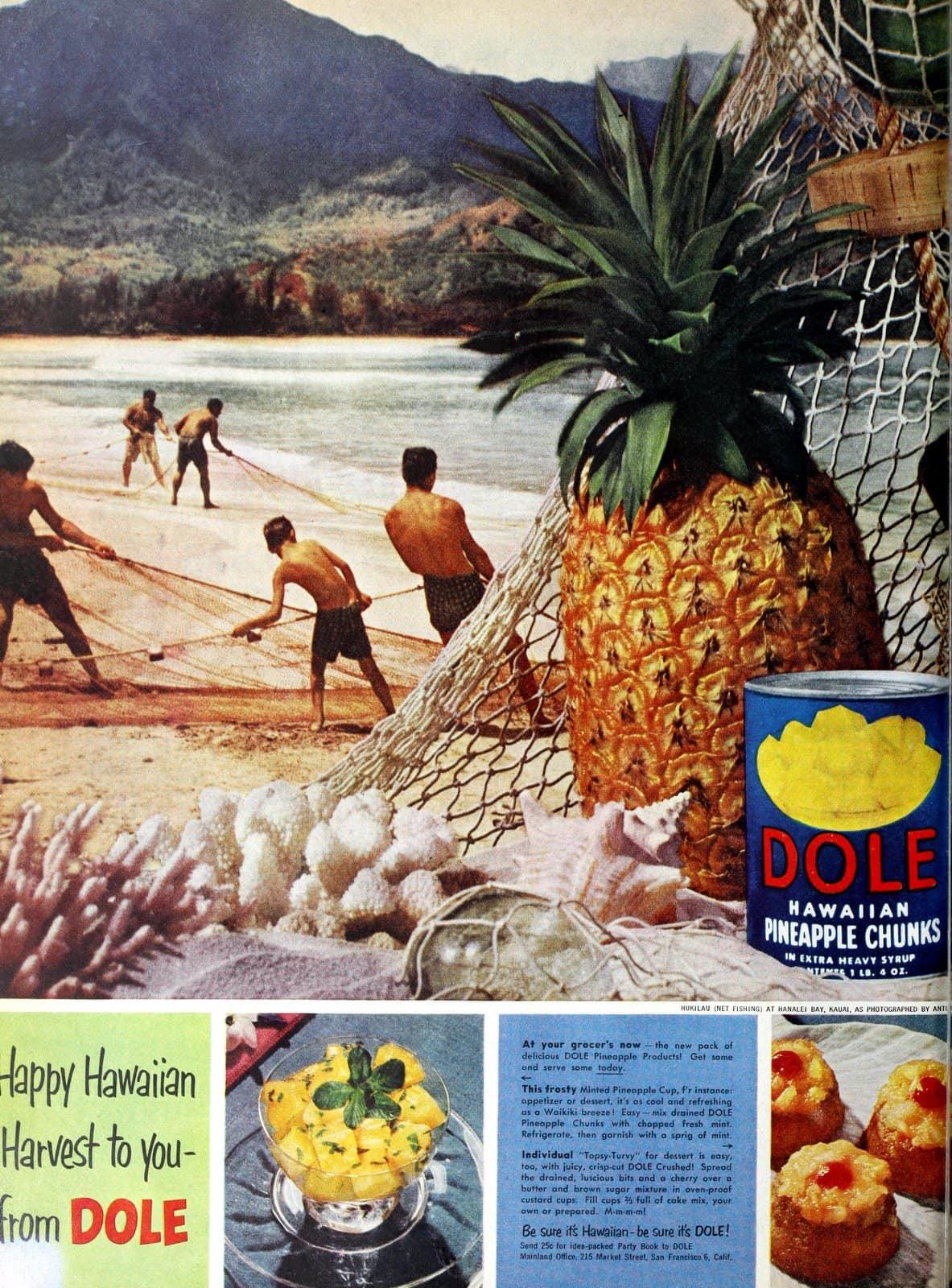Vintage 1950s tips for serving pineapple