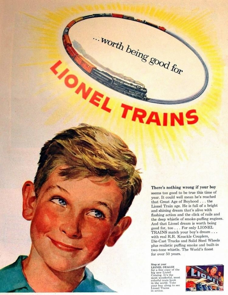 Vintage 1952 Lionel Trains Worth being good for