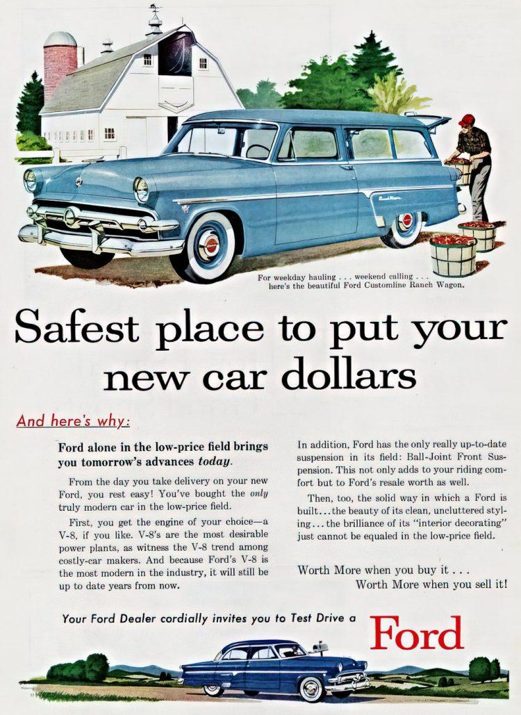 Vintage 1954 Ford Ranch Wagon