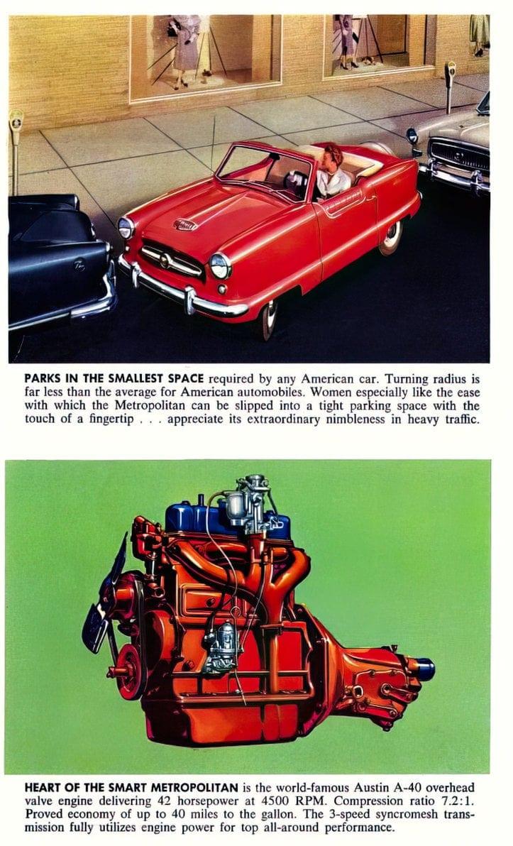 Vintage 1954 Nash Metropolitan classic cars (4)