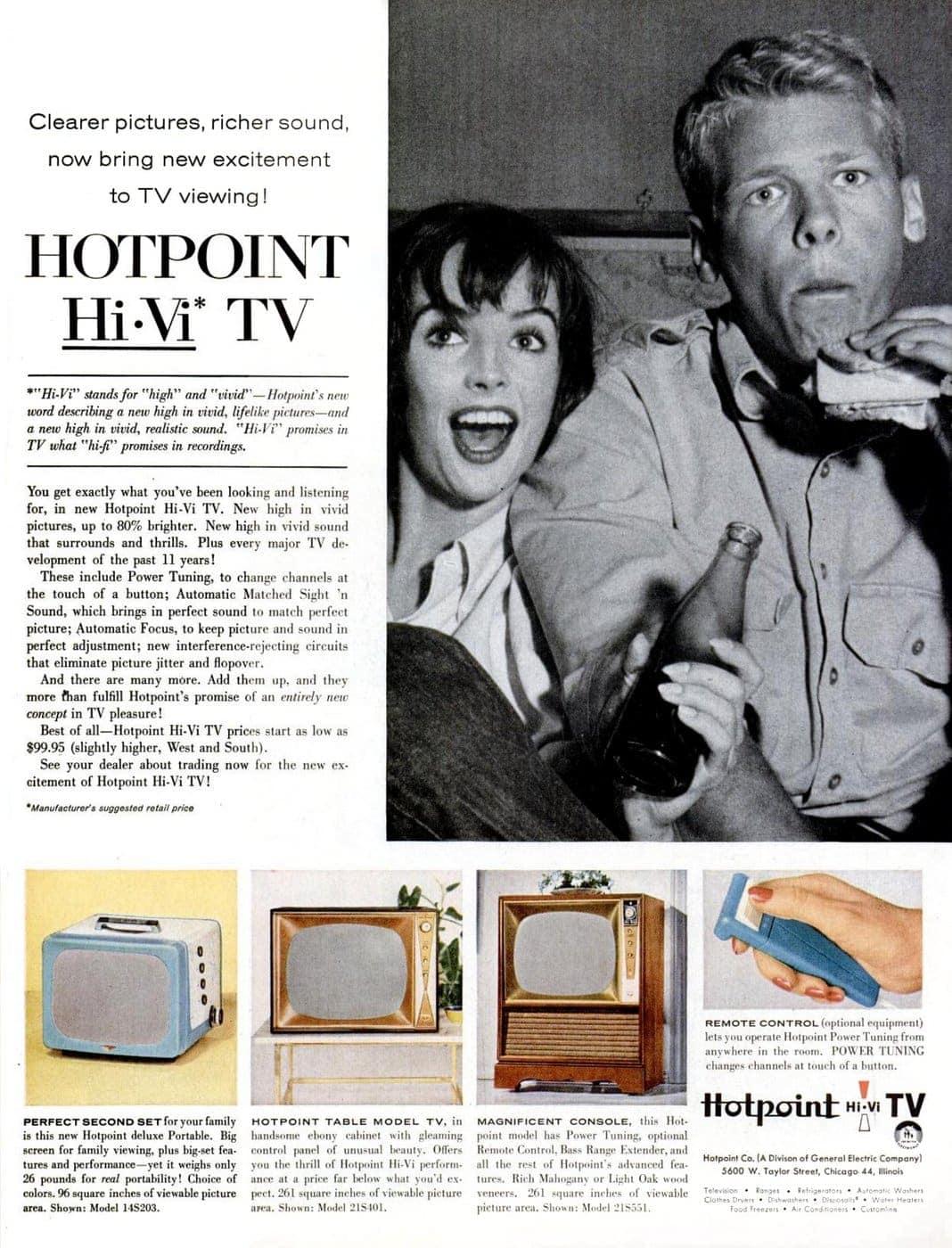 Vintage 1957 Hotpoint Hi-Vi TV