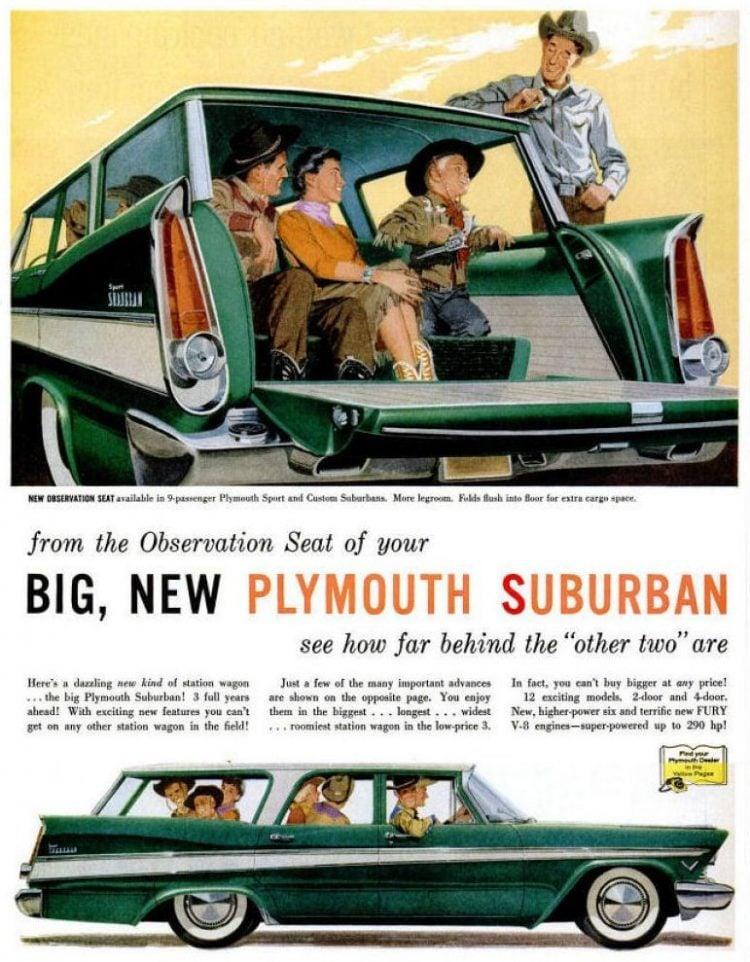 Vintage 1957 Plymouth Suburban station wagon