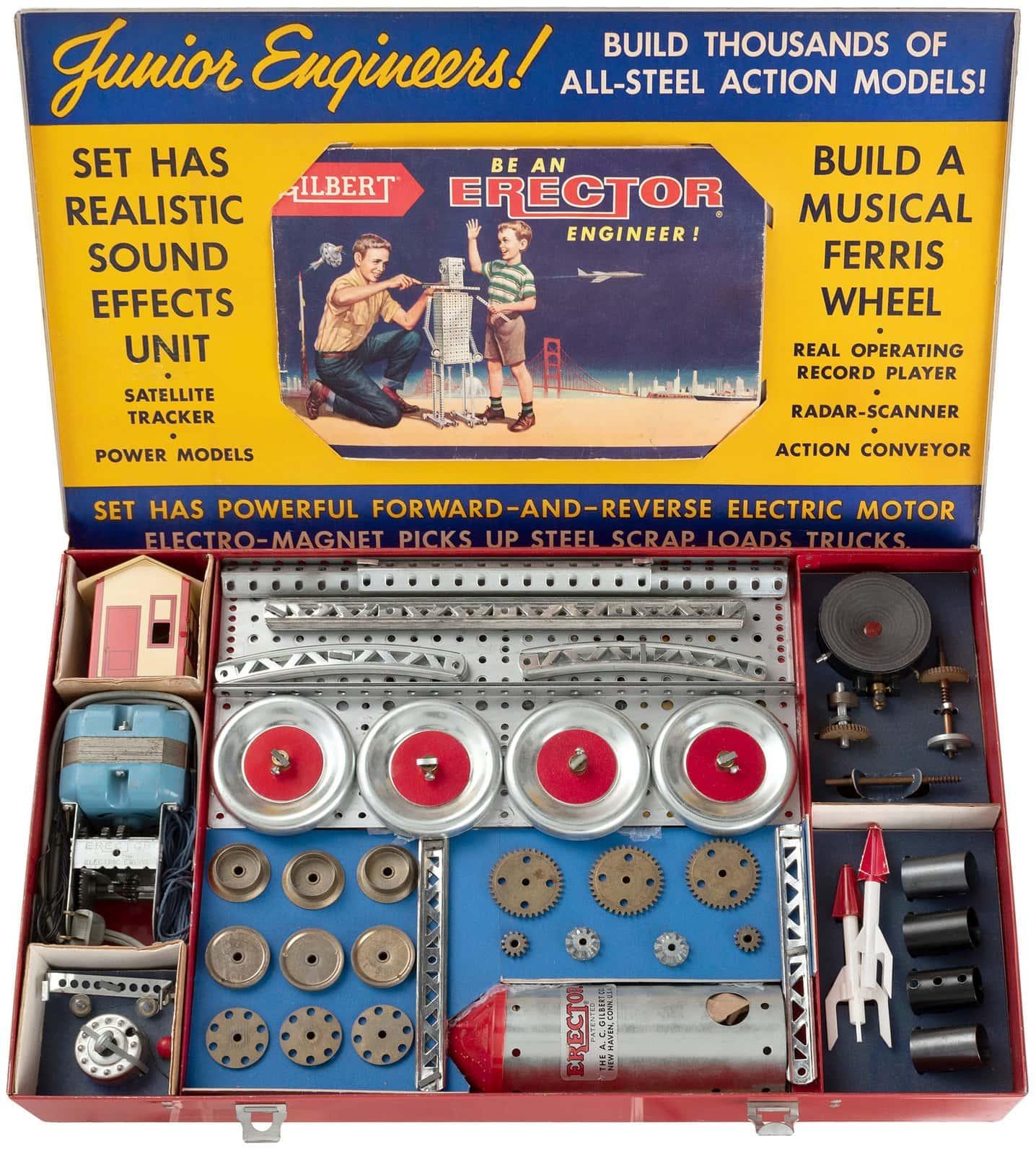 Vintage 1959 Gilbert Erector Set toy - Musical Ferris Wheel