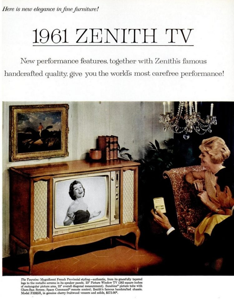 Vintage 1960 Zenith TV remote control