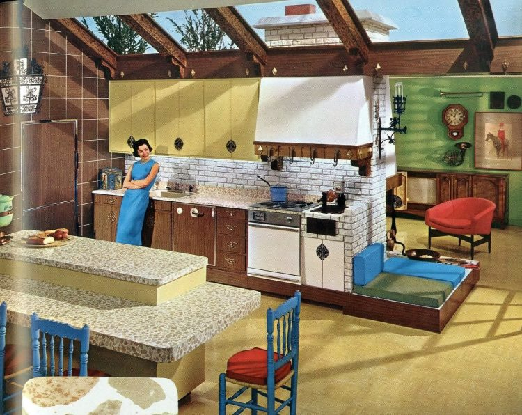 Vintage 1960 kitchen with Formica