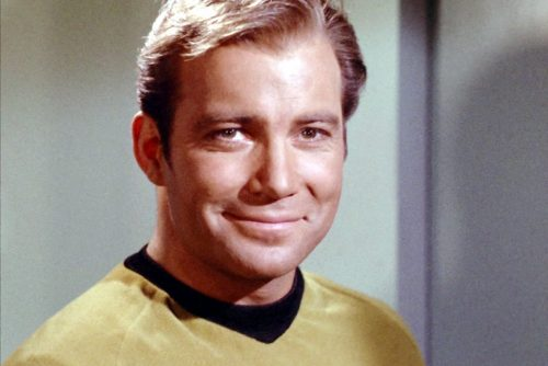 Vintage 1960s - Actor William Shatner as Captain Kirk