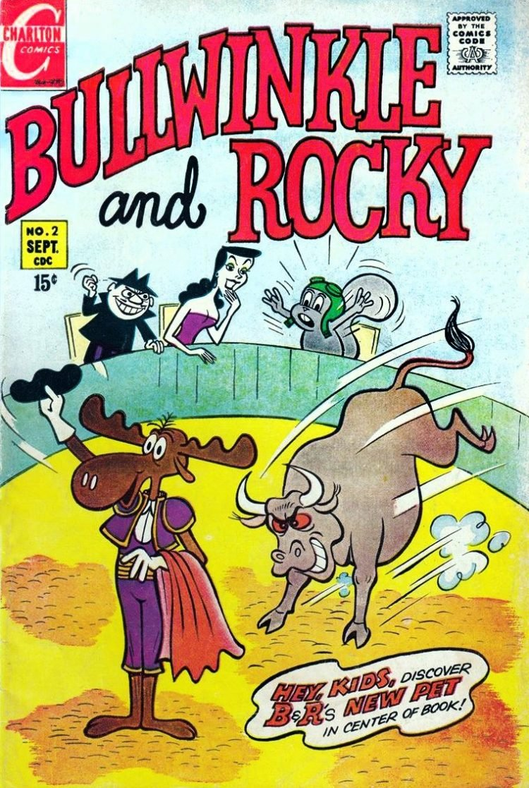 Vintage 1960s Bullwinkle and Rocky comic book cover
