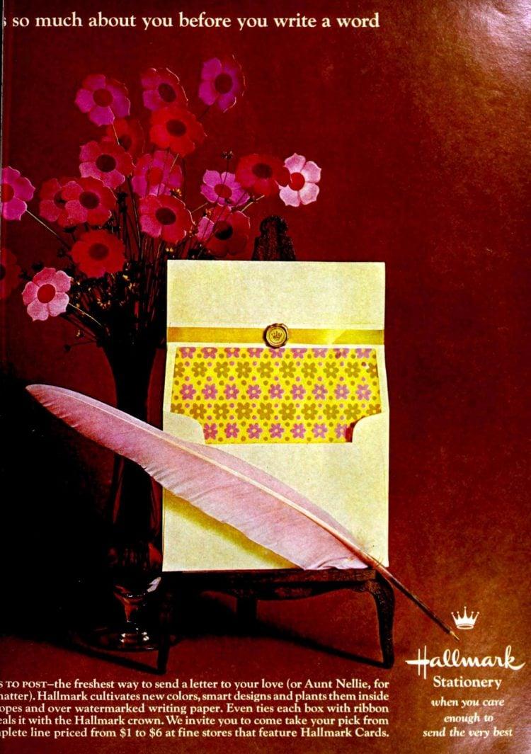 Vintage 1960s Hallmark - Notecards and envelopes (1967)