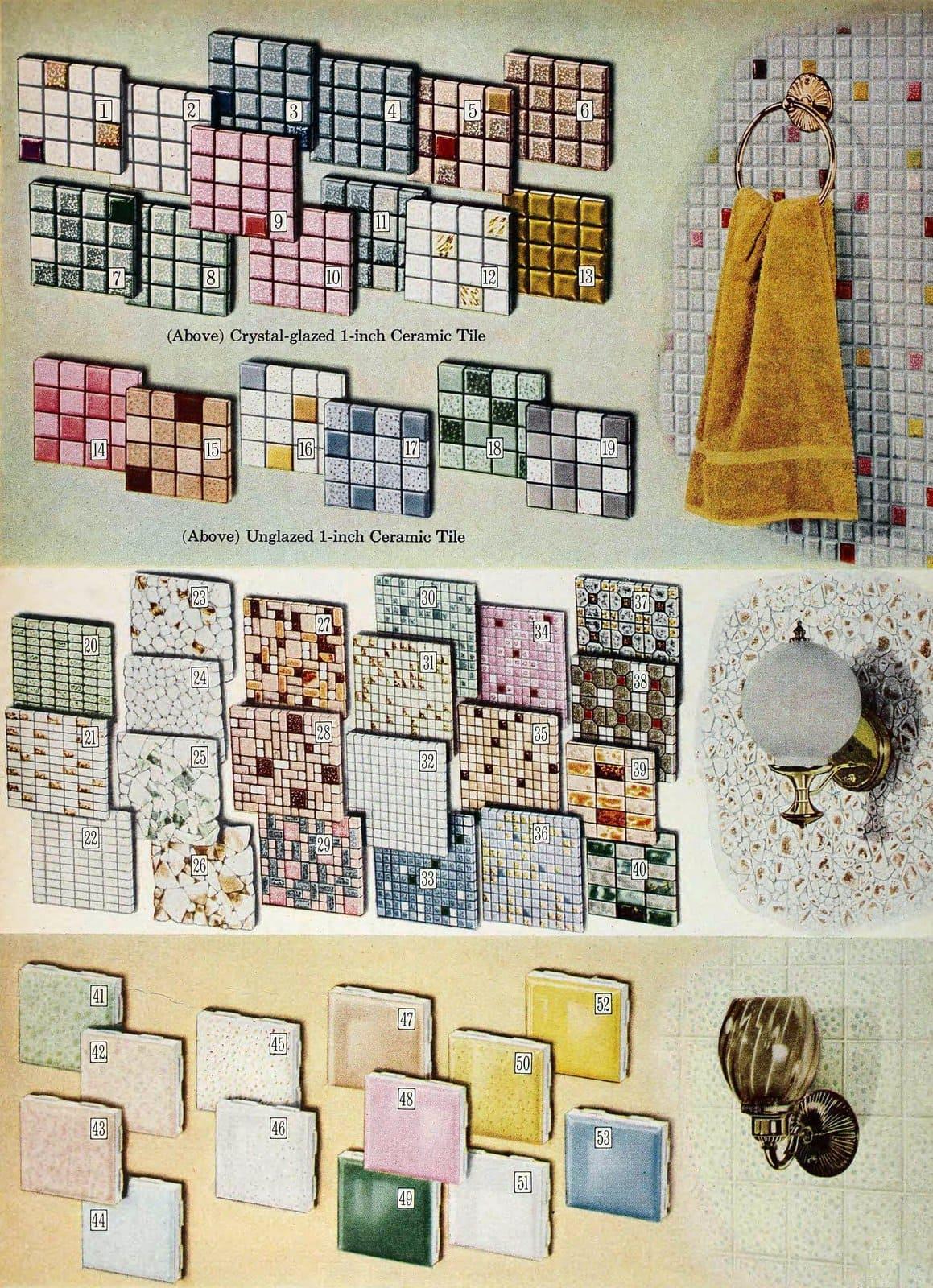Vintage 1960s ceramic tile patterns (1966)