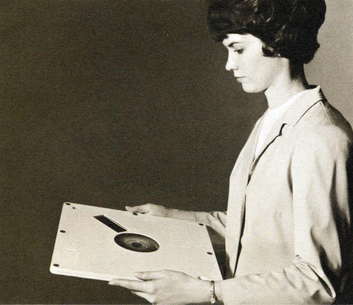 Vintage 1960s computer disk
