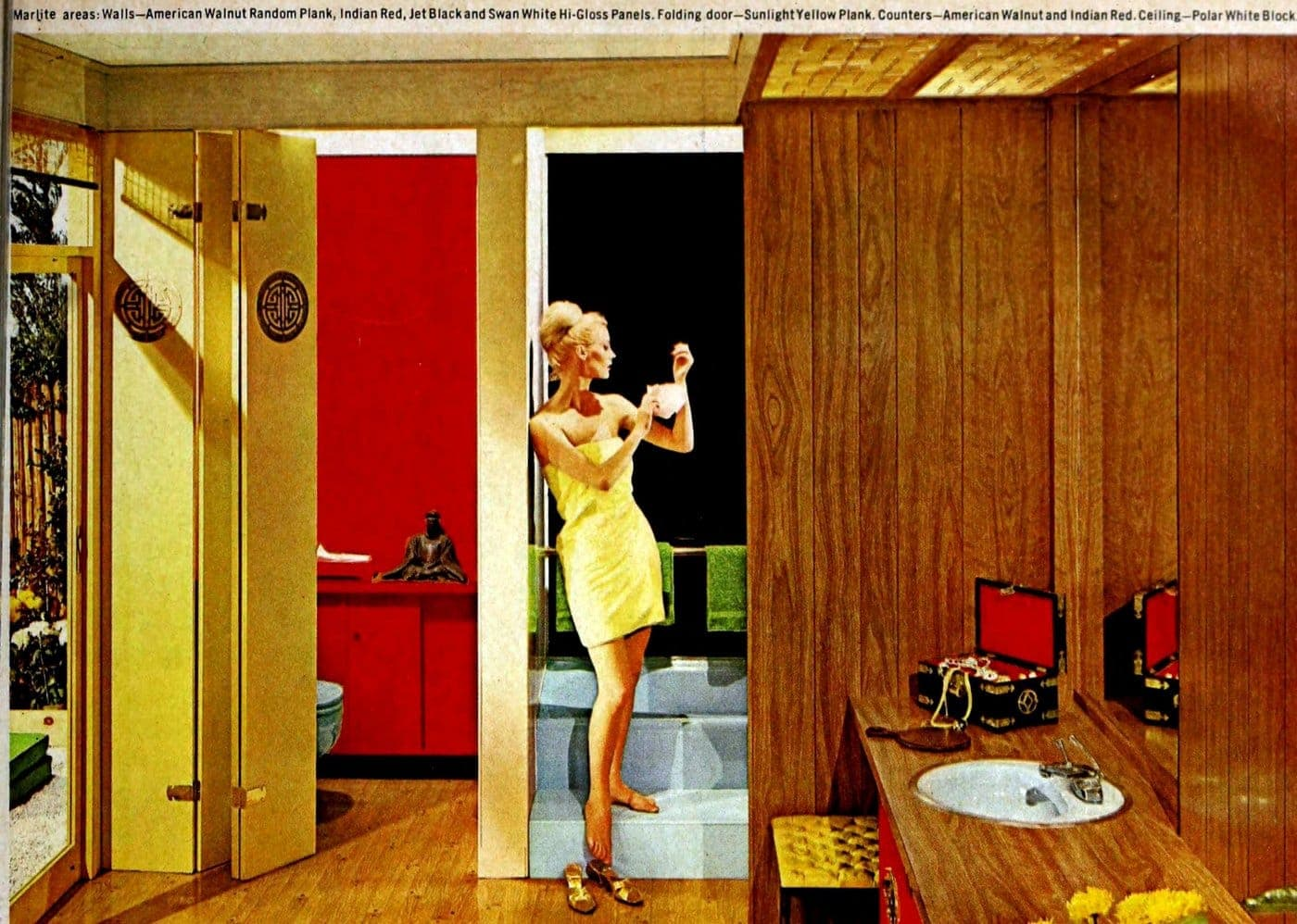 Vintage 1960s decor for bathrooms from 1964