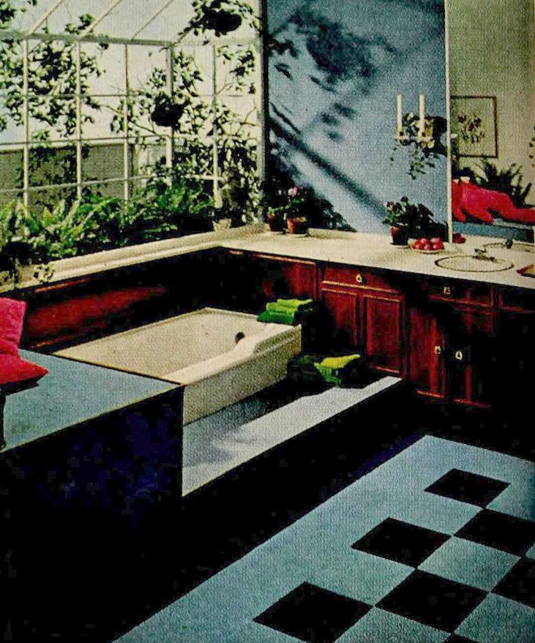 Vintage 1960s decor for bathrooms from 1967