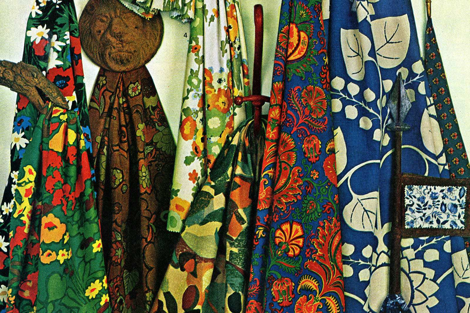 Vintage 1960s home decorating fabric