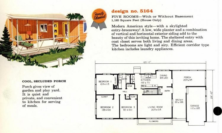 Vintage 1960s home plan 5164 (2)