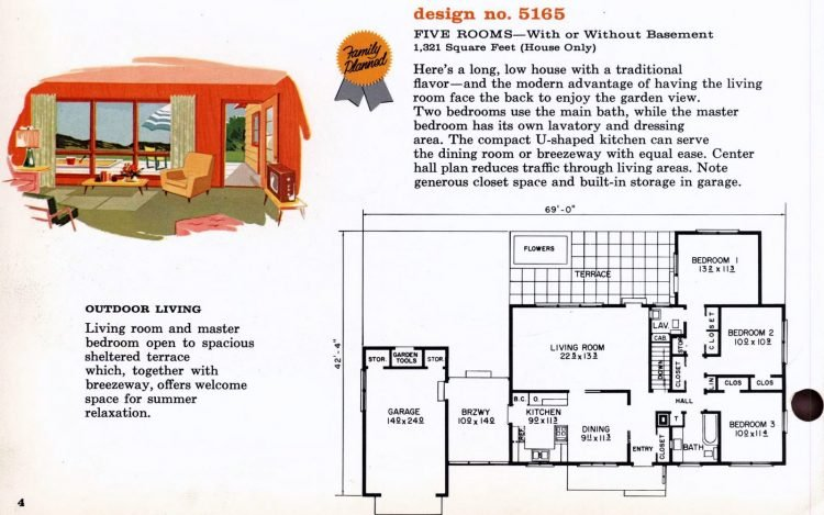 Vintage 1960s home plan 5165 (1)