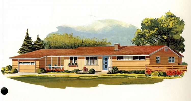 See 125 Vintage 60s Home Plans Used To Design Build Millions Of Mid Century Houses Across America Click Americana