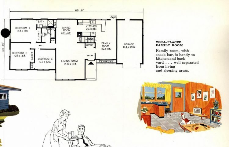 Vintage 1960s home plan 6133 (2)