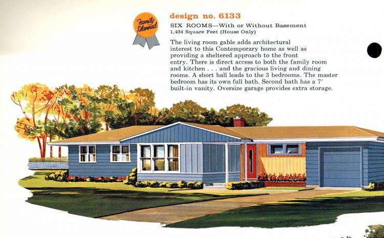 Vintage 1960s home plan 6133