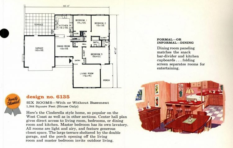 Vintage 1960s home plan 6135 (2)