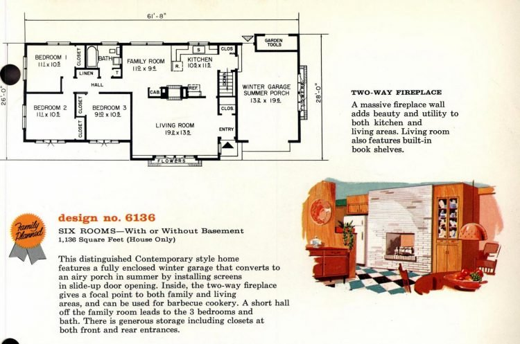 Vintage 1960s home plan 6136 (2)