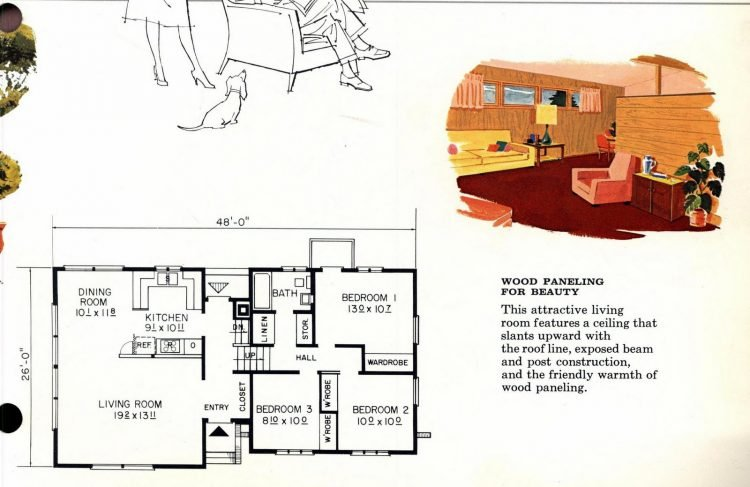 Vintage 1960s home plan 6137 (2)