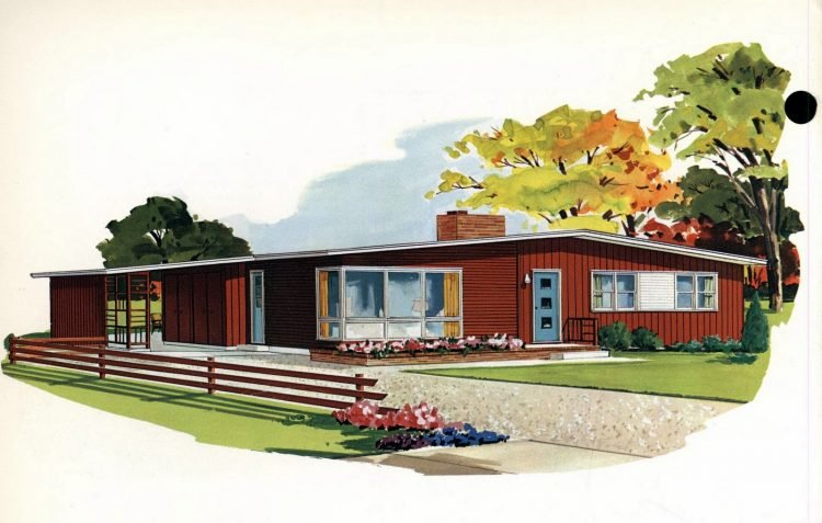 Vintage 1960s home plan 7106 (2)